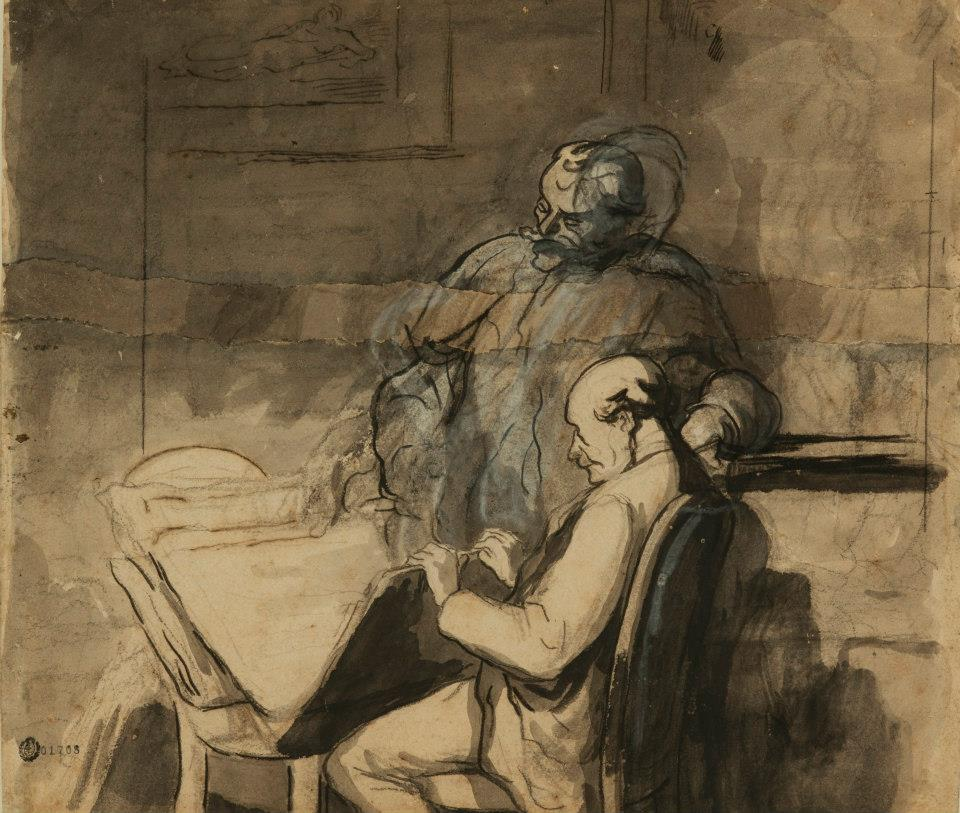 Daumier, Les Amateurs d'estampes,